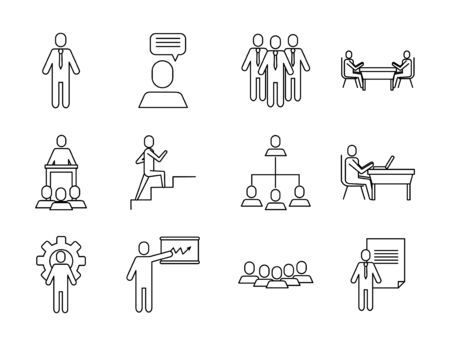 bundle of business success icons vector illustration design Illusztráció