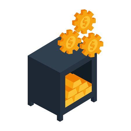 safe box money isolated icon vector illustration design Ilustracja