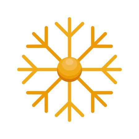 merry christmas snowflake decorative icon vector illustration design