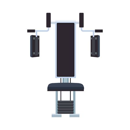 gym machine icon over white background, vector illustration