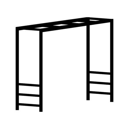 Horizontal Ladder Playground icon over white background, vector illustration Illusztráció