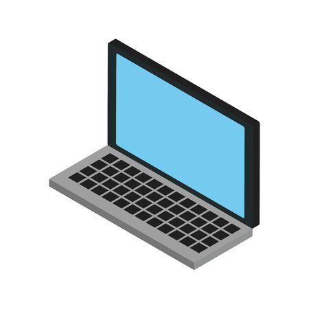 laptop computer portable isolated icon vector illustration design Illusztráció