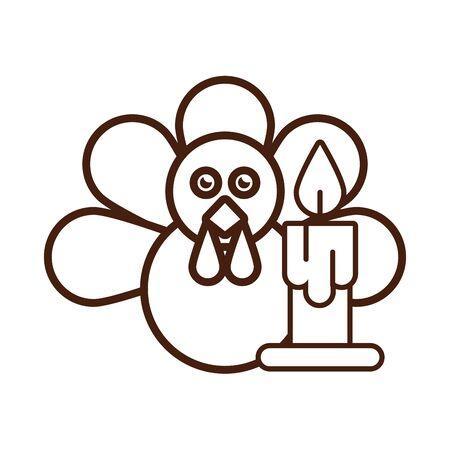 turkey bird animal thanksgiving character vector illustration design Standard-Bild - 134737653
