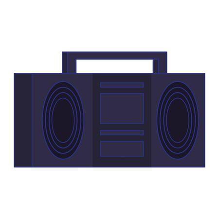 Retro videogame radio stereo pixelated cartoon isolated vector illustration graphic design 向量圖像