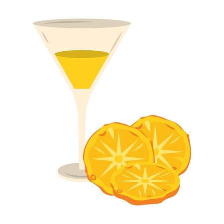pineapple Martini cocktail icon over white background, vector illustration