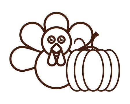 turkey bird animal thanksgiving character vector illustration design Standard-Bild - 134753995