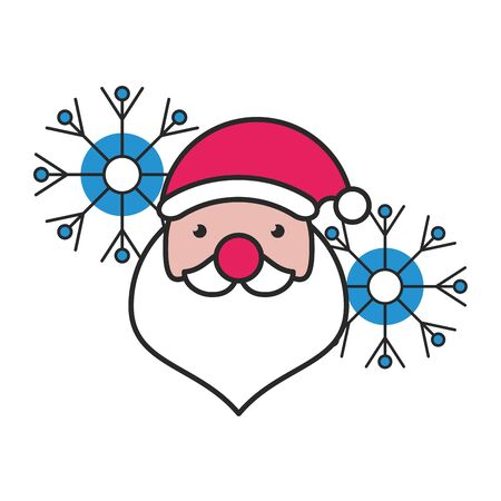 merry christmas santa claus hat icon vector illustration design
