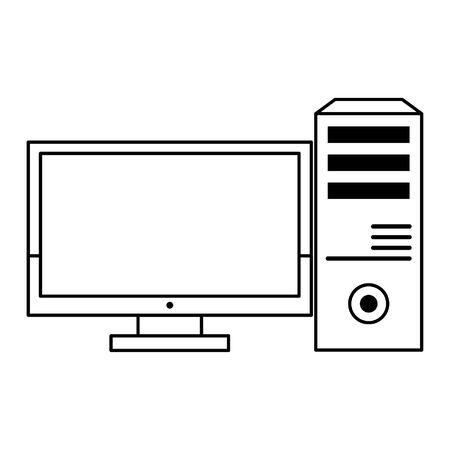 computer icon cartoon isolated vector illustration graphic design