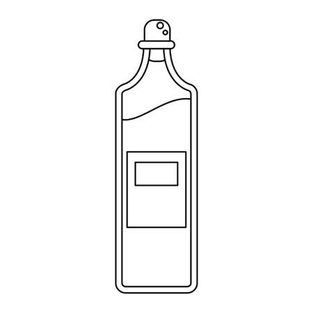 Olive oil bottle isolated cartoon vector illustration graphic design Illustration