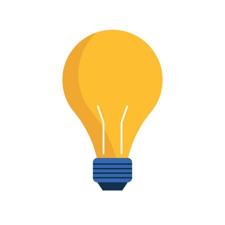 light bulb icon over white background, vector illustration