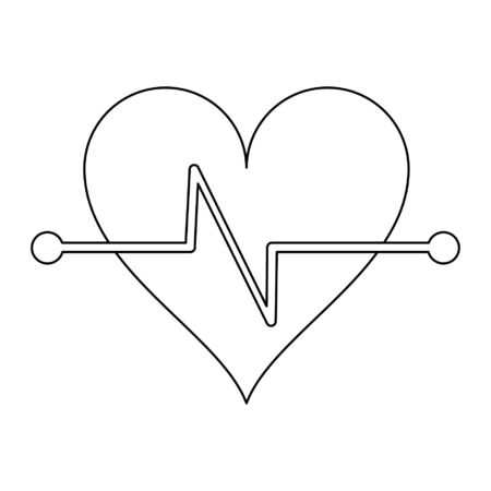 Fitness heartbeat symbol isolated vector illustration graphic design