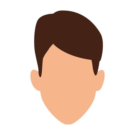 Man head design, Boy male person people human social media and portrait theme Vector illustration