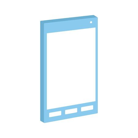 smartphone device icon over white background, vector illustration
