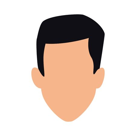 avatar man head icon over white background, flat design. vector illustration 일러스트