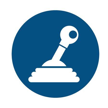 car gear lever assembly piece flat icon vector illustration design Иллюстрация