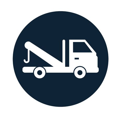 crane truck service isolated icon vector illustration design Standard-Bild - 134819096
