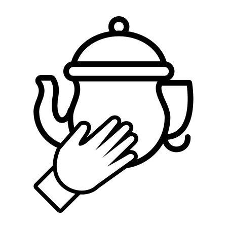 kitchen teapot ceramic utensil icon vector illustration design