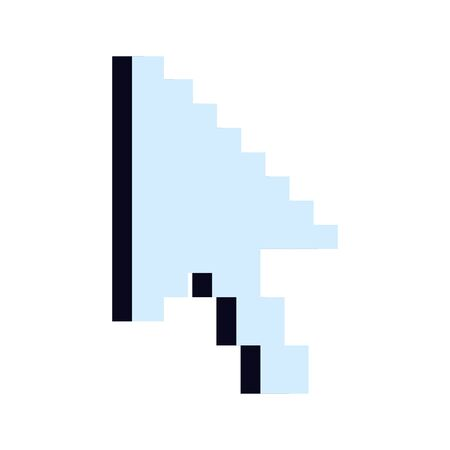 arrow mouse pointer pixelated icon vector illustration design 向量圖像