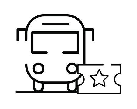 bus public transport isolated icon vector illustration design Ilustração