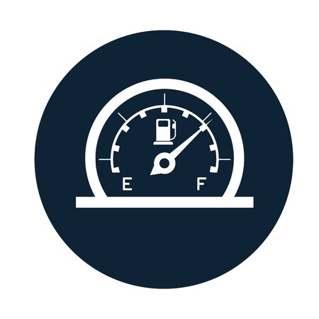 car fuel gauge assembly piece flat icon vector illustration design
