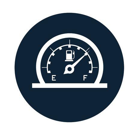 car fuel gauge assembly piece flat icon vector illustration design Stockfoto - 134831905