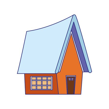 house icon over white background, vector illustration