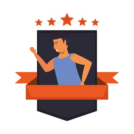 young athlete basketball player character vector illustration design
