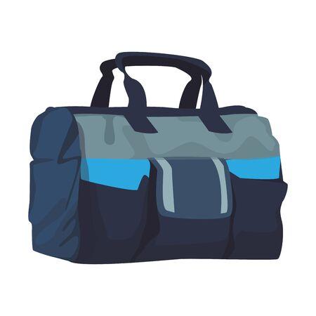 gym bag icon over white background, vector illustration Archivio Fotografico - 134858008