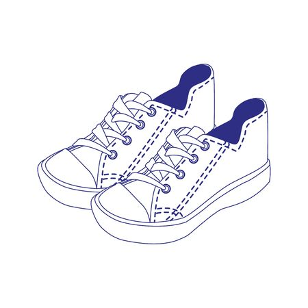 casual shoes icon over white background, vector illustration Illustration