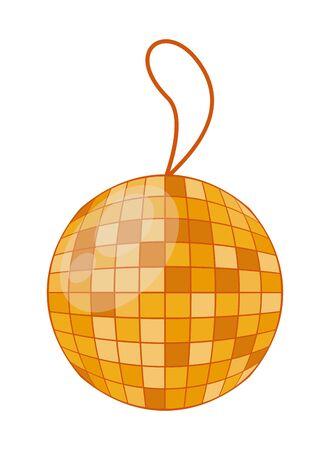 mirrors ball party hanging icon vector illustration design Ilustração