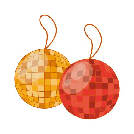 mirrors ball party hanging icon vector illustration design Illustration