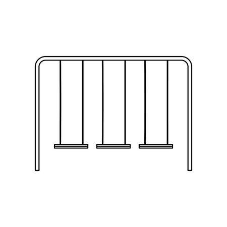 playground swings icon over white background, vector illustration Illustration