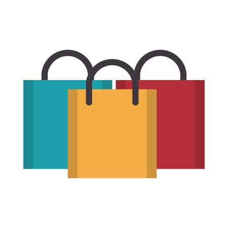 shopping commerce business sales, store bags cartoon vector illustration graphic design