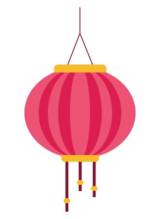 Chinese paper lantern hanging light ,vector illustration graphic design. Reklamní fotografie - 134869151