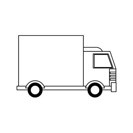 truck transport merchandise vehicle cartoon vector illustration graphic design 일러스트