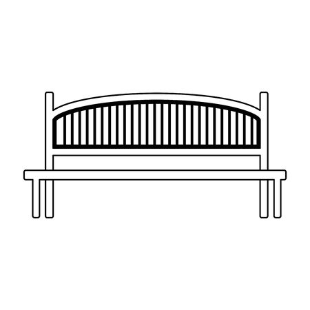 park bench icon over white background, vector illustration Stockfoto - 134879290