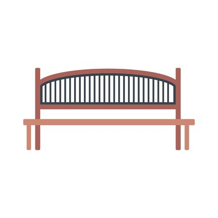 park bench icon over white background, vector illustration Stockfoto - 134879347
