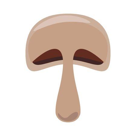 mushroom icon over white background, vector illustration 일러스트