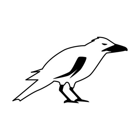 halloween dark crow bird icon vector illustration design Vector Illustration