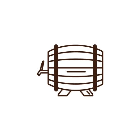 beer barrel oktoberfest celebration isolated icon vector illustration design