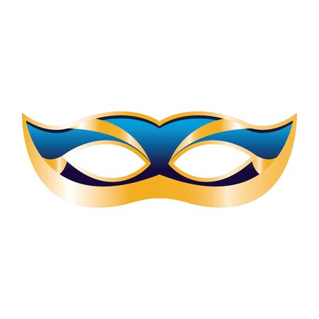 colorful Design of simple mardi grass mask icon over white background, vector illustration
