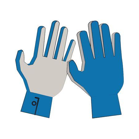 Soccer football goalkeeper gloves sport equipment vector illustration graphic design