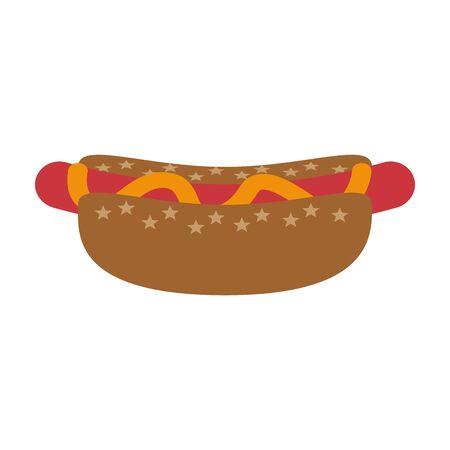 fast food hot dog cartoon vector illustration graphic design Foto de archivo - 134930257