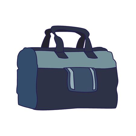 gym bag icon over white background, vector illustration