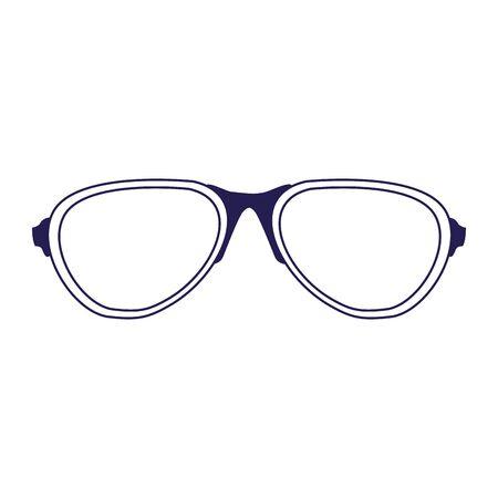 glasses accessory icon over white background, vector illustration