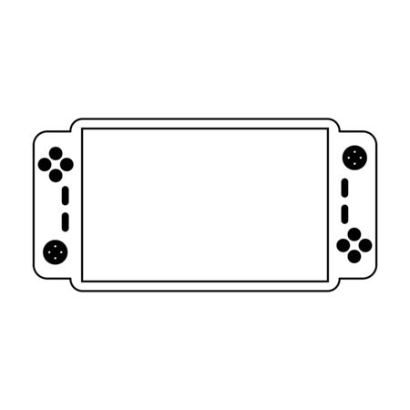 Videogame console portable technology Designe Illustration