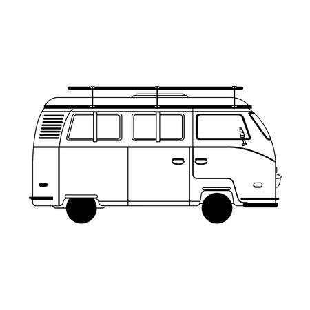 travel van icon over white background, vector illustration