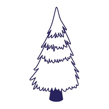 pine tree icon over white background, vector illustration