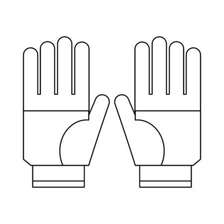 Gardening gloves wear isolated Designe