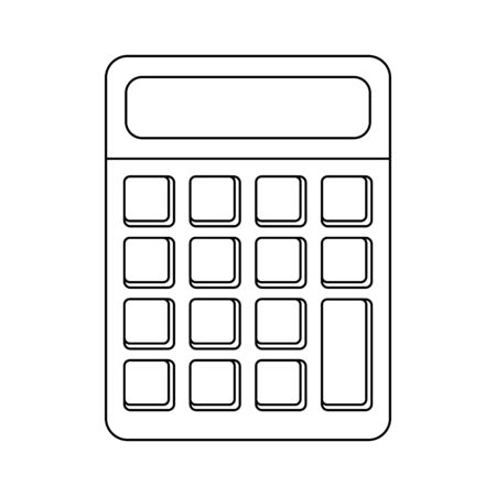 Calculator math device isolated Designe